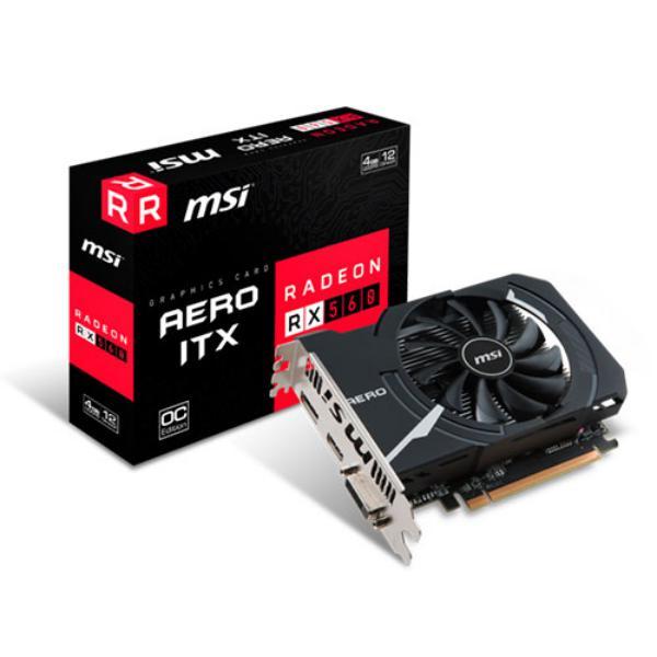 MSI AMD Radeon RX 560 Aero ITX 4G OC 4GB – Gráfica