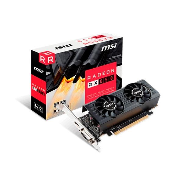 MSI AMD Radeon RX550 4GT LP OC 4GB - Gráfica