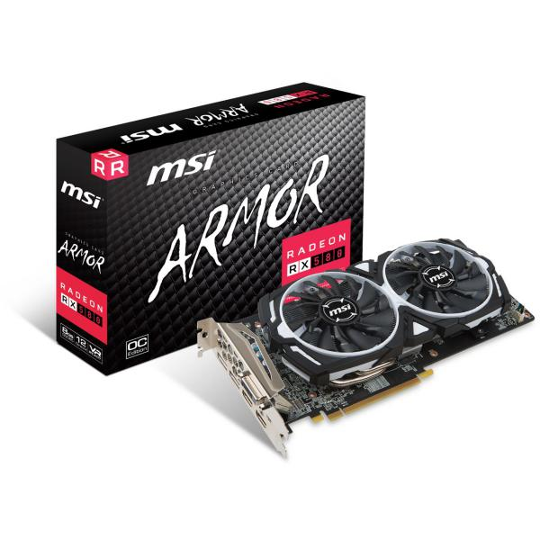 MSI AMD Radeon RX580 Armor 8GB OC – Gráfica