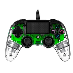 Nacon PS4 oficial transparente LED verde  wired – Gamepad