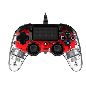 Nacon PS4 oficial transparente LED rojo  wired – Gamepad