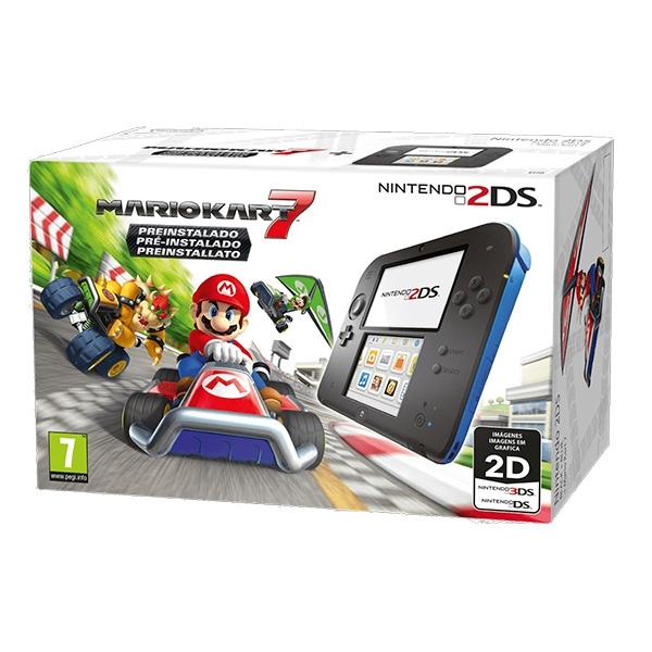 Nintendo 2DS Azul + Mario Kart 7 – Consola