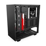 NZXT H500 con ventana negra / roja - Caja