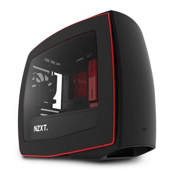 NZXT Manta negro/rojo con ventana – Caja