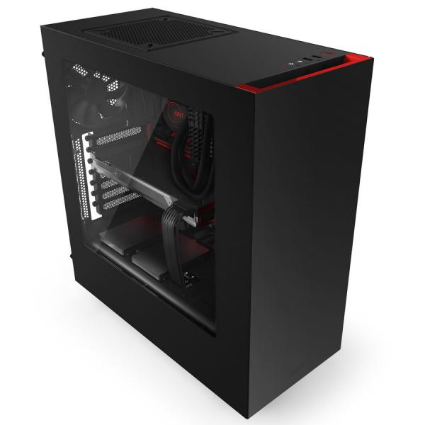 NZXT S340 ATX negra / roja – Caja