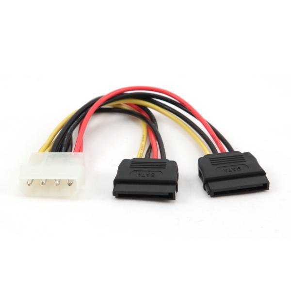 Cable molex a 2 SATA – Cable de alimentación