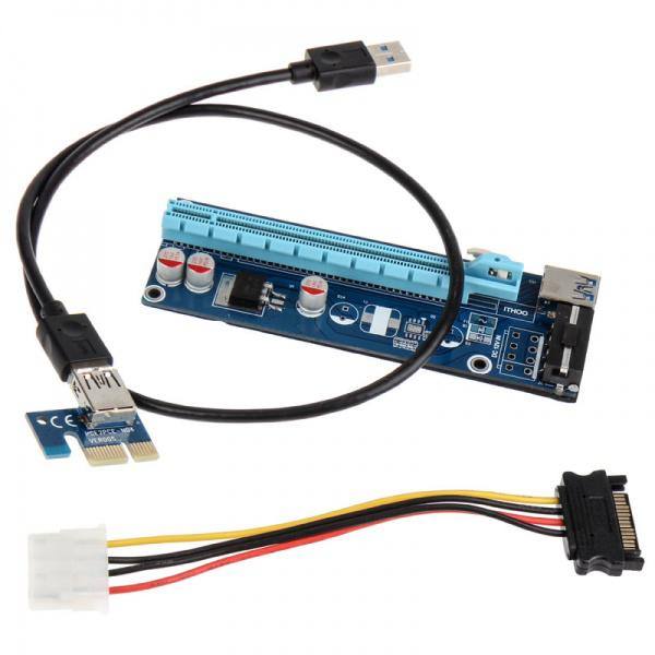 Kolink PCI-E 1x a PCI-E 16x Alimentado 60cm – Riser Card