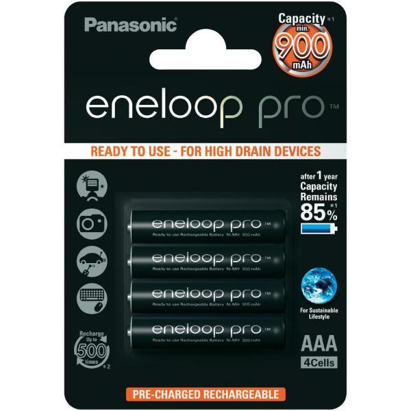 Panasonic Eneloop Pro Micro AAA 900mAh 1×4 – Pilas