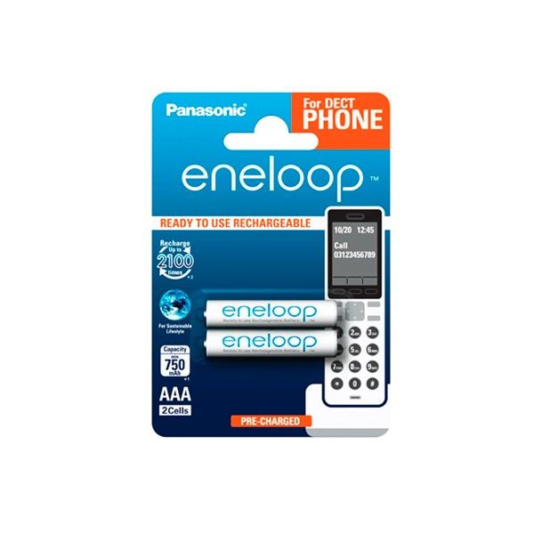 Panasonic Eneloop AAA 750mAh DECT x2 - Pilas