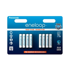 Panasonic Eneloop AAA 750mAh x8 - Pilas