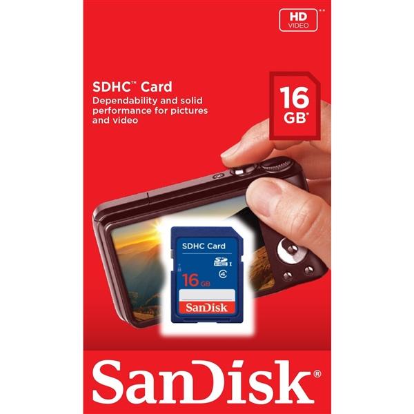 SanDisk Standard 16GB – Tarjeta SD