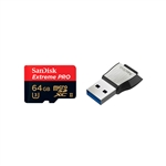 SanDisk Extreme Pro 64GB 275MB/s + USB3 – Tarjeta microSD