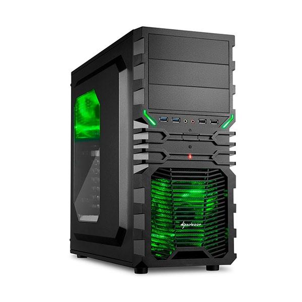 Sharkoon VG4-W negra verde – Caja