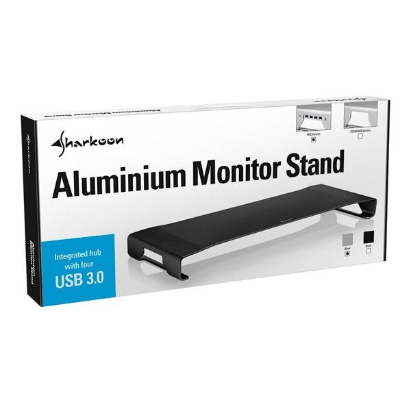 Sharkoon Aluminium Monitor Stand PRO Negro hub - Accesorio