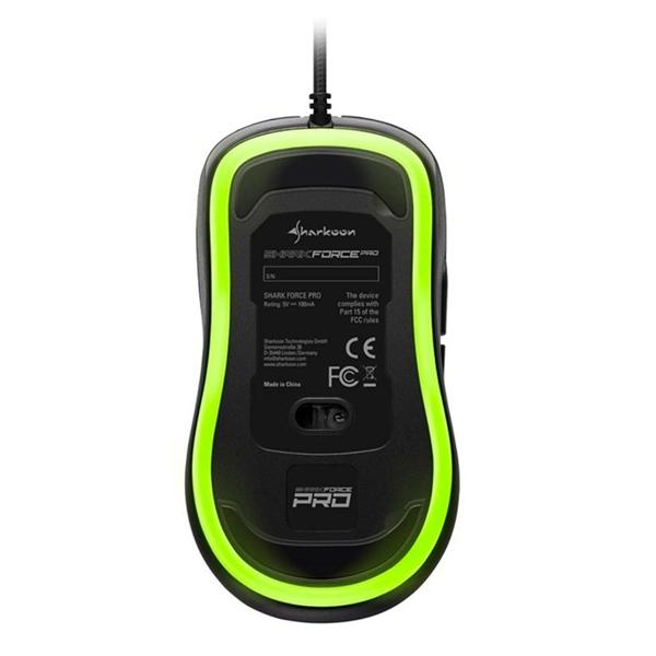 Sharkoon Force PRO USB 3200DPI Verde - Ratón