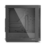 Sharkoon AM5 Window negra rojo ATX - Caja