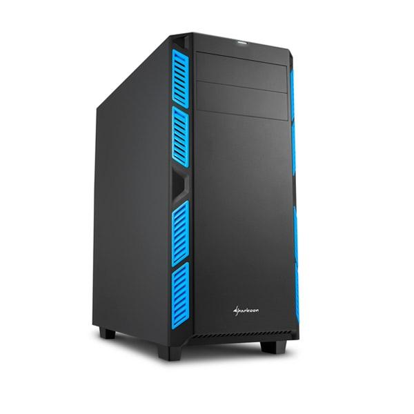 Sharkoon AI7000 silent negra / azul ATX - Caja