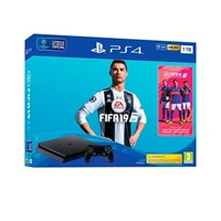 Sony PS4 Slim 500GB Negra + FIFA 19 + Plus 14 días - Consola