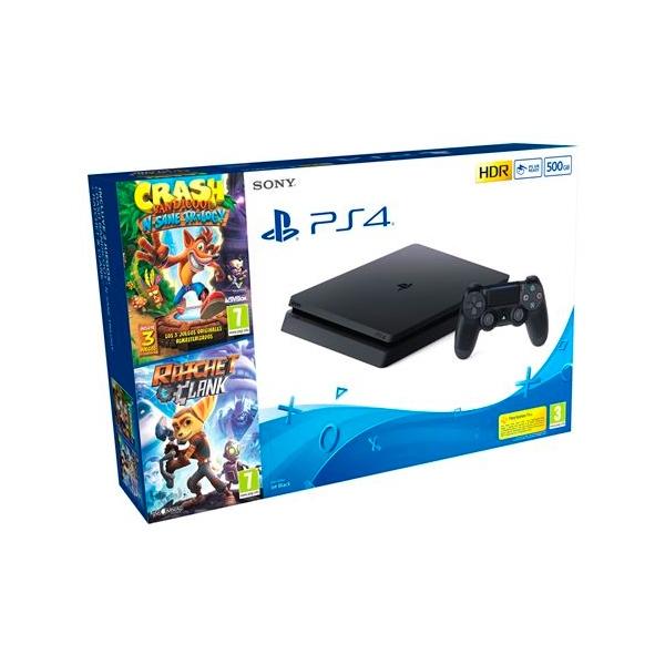 Sony PS4 Slim 500GB + Crash N.Sane Trilogy + Ratchet & Clank