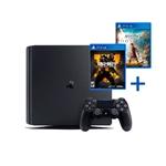 Sony PS4 Slim 1TB + COD Black Ops 4 + AC Odyssey - Consola