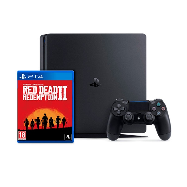 Sony PS4 Slim 1TB Negra + Red Dead Redemption 2 - Consola