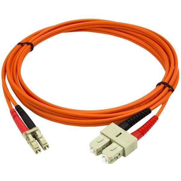 Cable Adaptador Multimodo Dúplex Fibra Óptica LC-SC 50/125