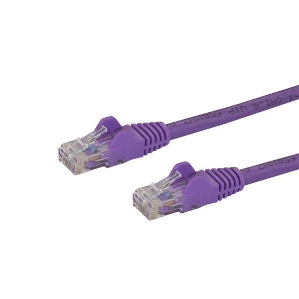 Startech latiguillo 3 M morado CAT6 UTP - Cable de red