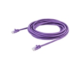 Startech latiguillo 5 M morado CAT6 UTP - Cable de red