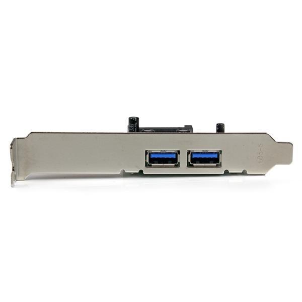 Startech PCIE 2 x USB 3.0 UASP con alimentación - Adaptador
