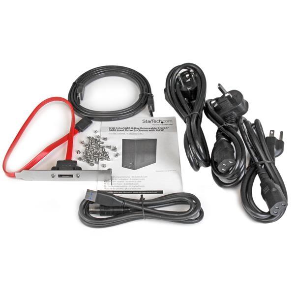 """Startech USB 3.0 eSATA 8 Bahías SATA III 2.5"""" y 3.5"""" - Caja"""