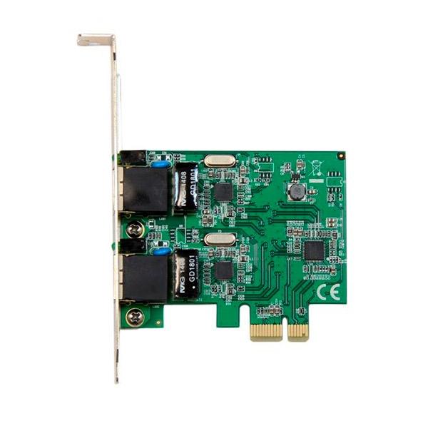 Startech 2 puertos RJ45 GBLAN PCI-E - Tarjeta de red