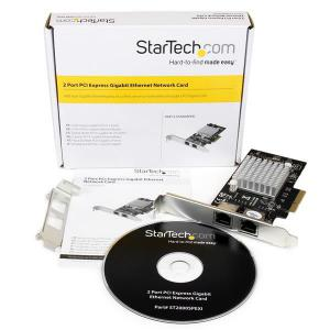 Startech GBLAN 2 LAN RJ45 Chip intel i350 – Tarjeta de red