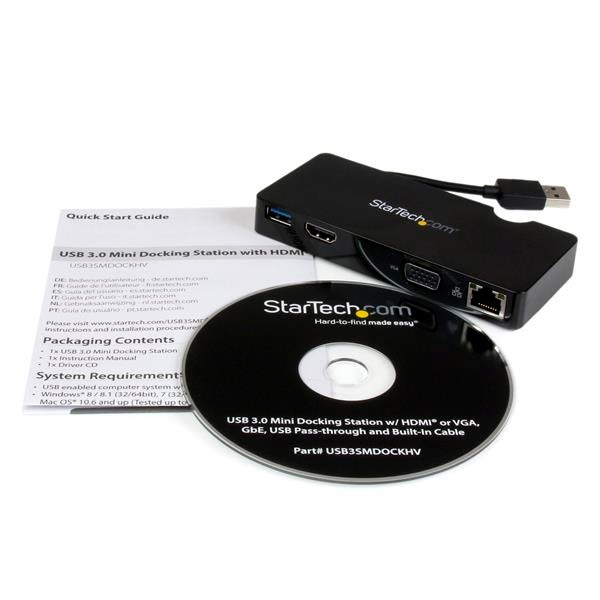 Startech replicador USB 3.0 HDMI VGA - Dock station