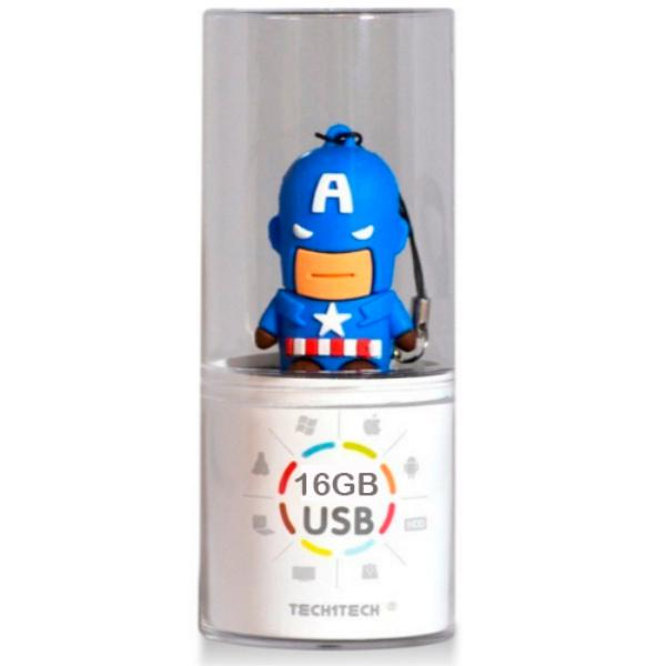 TECH1TECH Capitán América 16GB USB2 – PenDrive