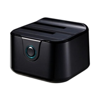 Tooq TQDS-802B Dock Station Doble HDD Negro – Dock