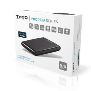 Tooq TQE-2526B 2.5″ SATA USB 3.0 12,5MM Negra  – Caja HDD