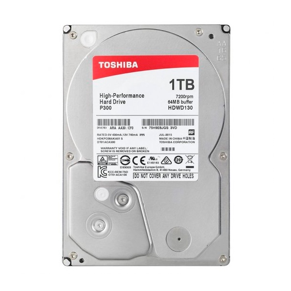 "Toshiba P300 High-Performance 2TB 3.5"" SATA - Disco Duro"