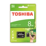 Toshiba High Speed 8GB CL4 c/adap – Tarjeta MicroSD