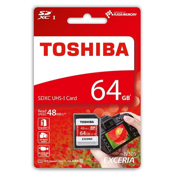 Toshiba Exceria 64GB 48MB/s c/adap – Tarjeta MicroSD