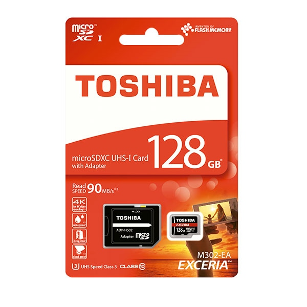 Toshiba Exceria 128GB 48MB/s c/adap – Tarjeta MicroSD