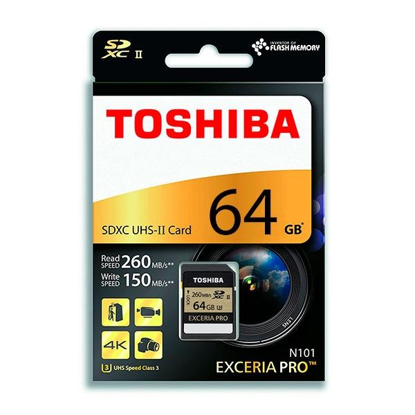 Toshiba Exceria Pro 64GB 270MB/s – Tarjeta SD