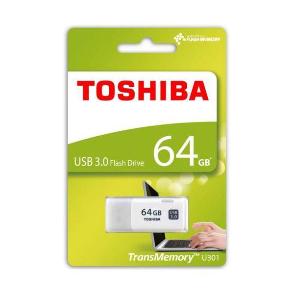 Toshiba TransMemory U301 USB 3.0 64GB blanca – Pendrive