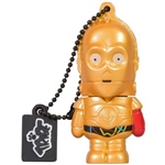TRIBE 16GB C-3PO (Brazo rojo) USB 2.0 Star Wars  - PenDrive