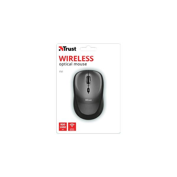 Trust Wireless Mouse Yvi Negro- Ratón