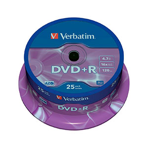 Verbatim DVD+R Pack 25u – 4.7GB – DVD