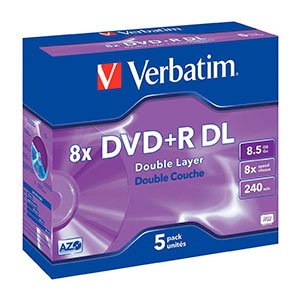 Verbatim DVD+R DL Pack 5u5 – 8.5 GB – DVD