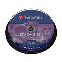 Verbatim DVD+R DL Pack 10u – 8.5 GB – DVD