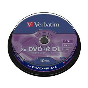 Verbatim DVD+R DL Pack 10u – 8.5 GB – DVD