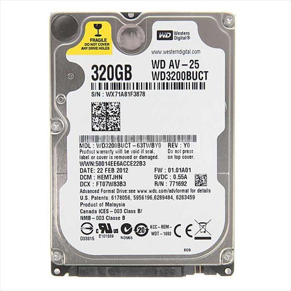 WD 2.5″ AV-25 320GB 16MB – Disco Duro