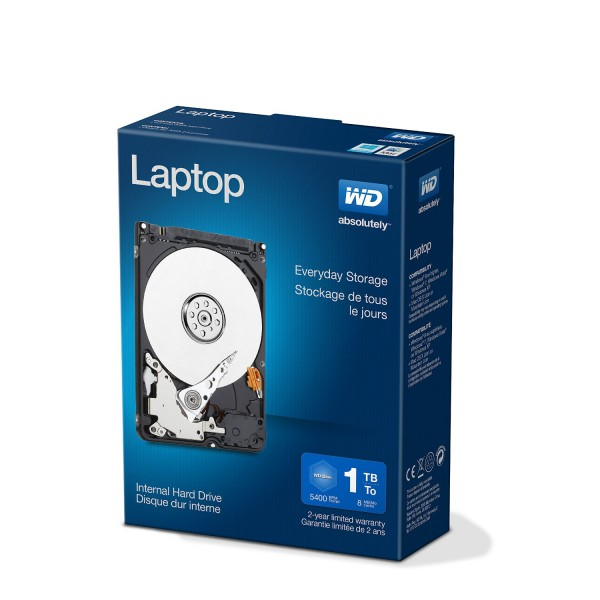 WD 2.5″ Laptop Mainstream 1TB 5400rpm 8MB – Disco Duro